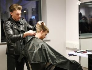 Barbering student