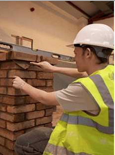 Student bricklaying