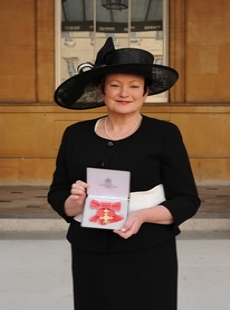 College Principal Brenda Sheils at Buckingham Palace by royal appointment