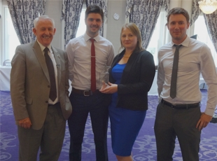 Dave Cooper, Elliot Morgan, Claire Donohue & Sean Howitt Marketing Award Ceremony