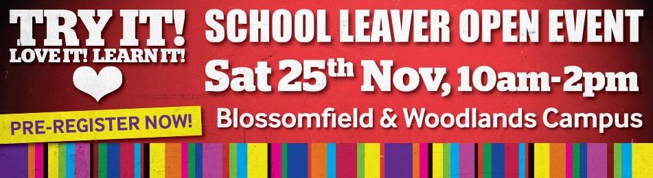 School Leaver Open Events
