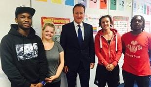 Prince's Trust meet David Cameron