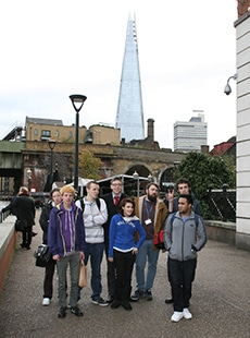 Hospitality students on trip to The Shard