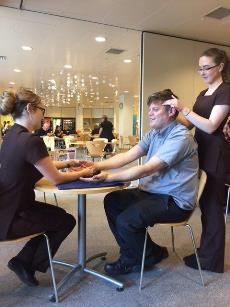 Beauty students at John Lewis