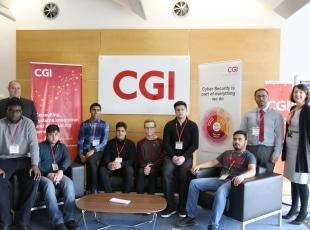Computing students work experience at CGI
