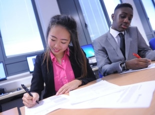 Students at Solihull College & University Centre