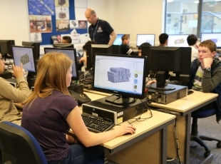 Year 10 students learn CAD at Solihull College