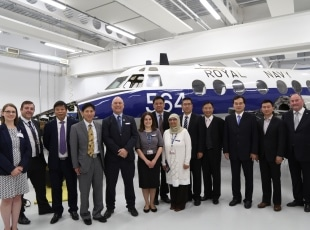 Chinese delegates visit Woodlands Campus