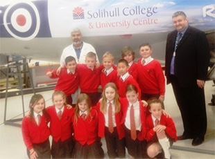 Balsall Common Primary School visit Woodlands Campus