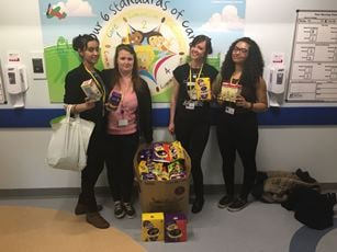 Solihull College students donate Easter Eggs to Heartlands Hospital