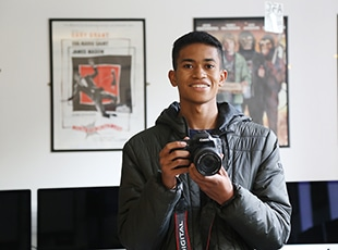 Elijah with his camera
