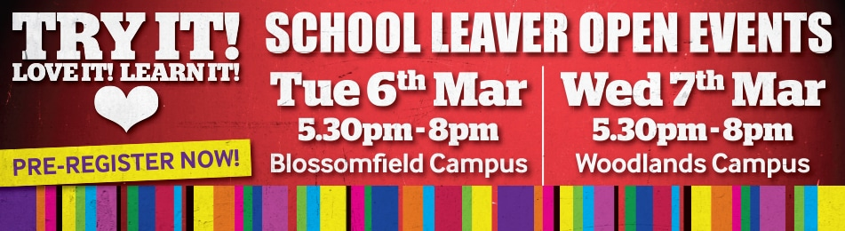 School Leaver Open Events