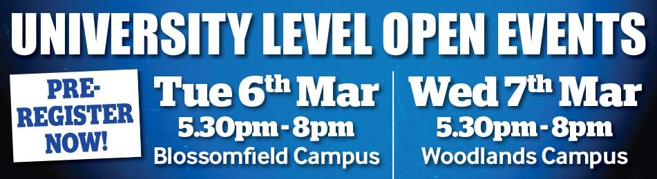 University Level Open Event