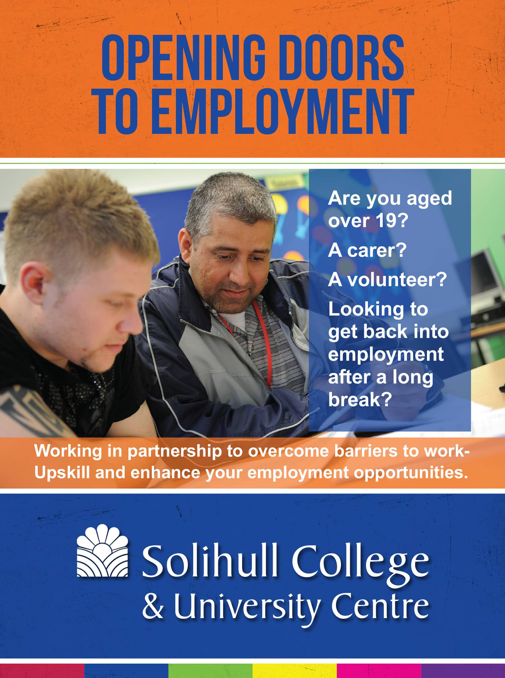 Shorts courses for the unemployed image