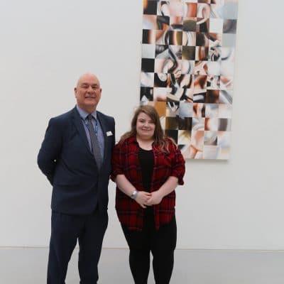 College Principal John Callaghan and Hannah