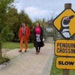 Alex and Rebecca walk in the Wildlife Park