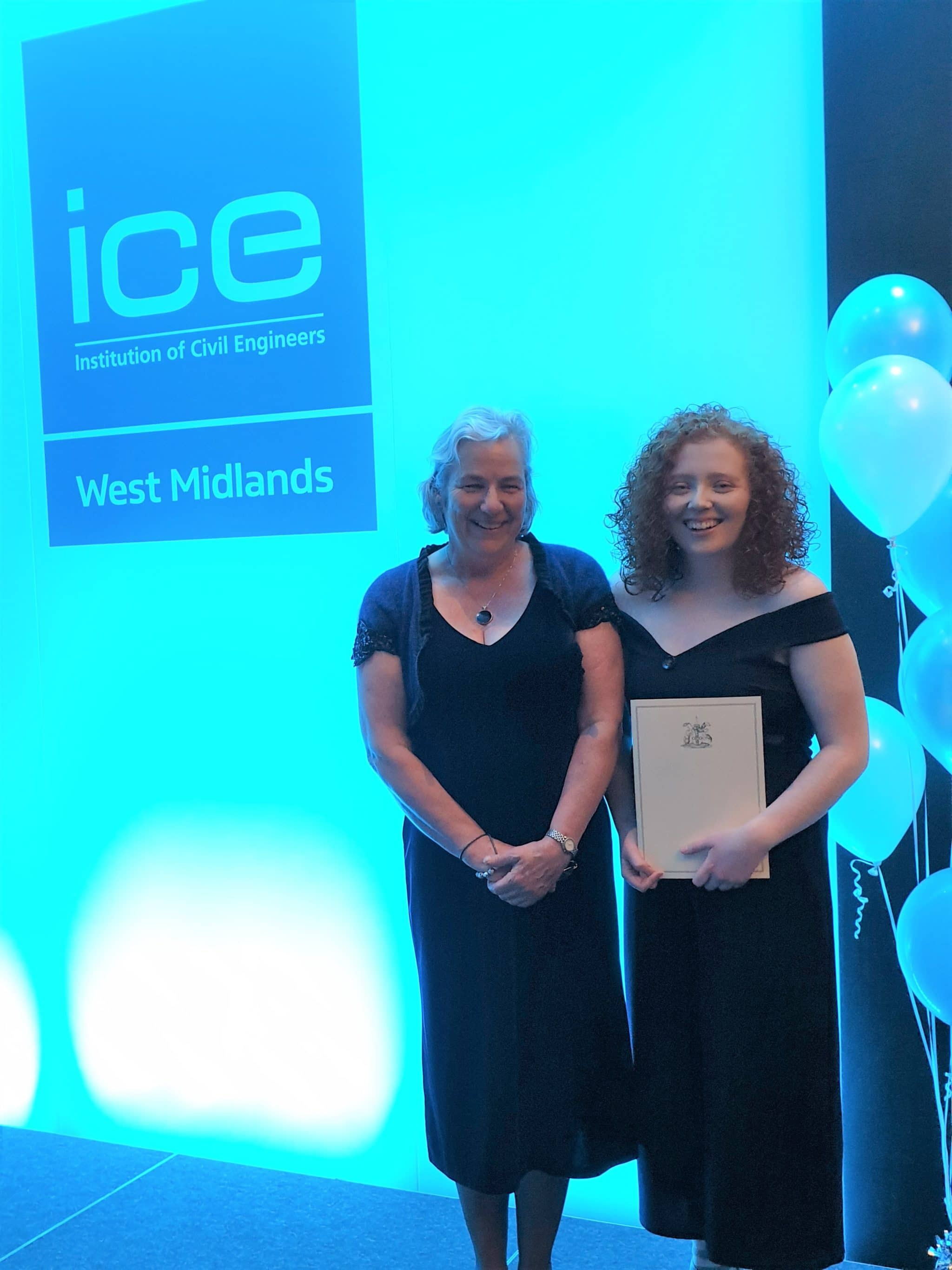 Emily and Deb at the ICE awards