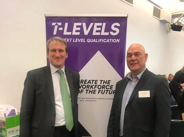 Damian Hinds and John Callaghan