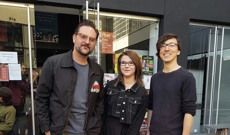 Jemma with tutors Dan and Matt.