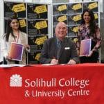 Student Voice President Alina Amin, Principal John Callaghan and Mental Health Lead Fathima Ashraff-Ali