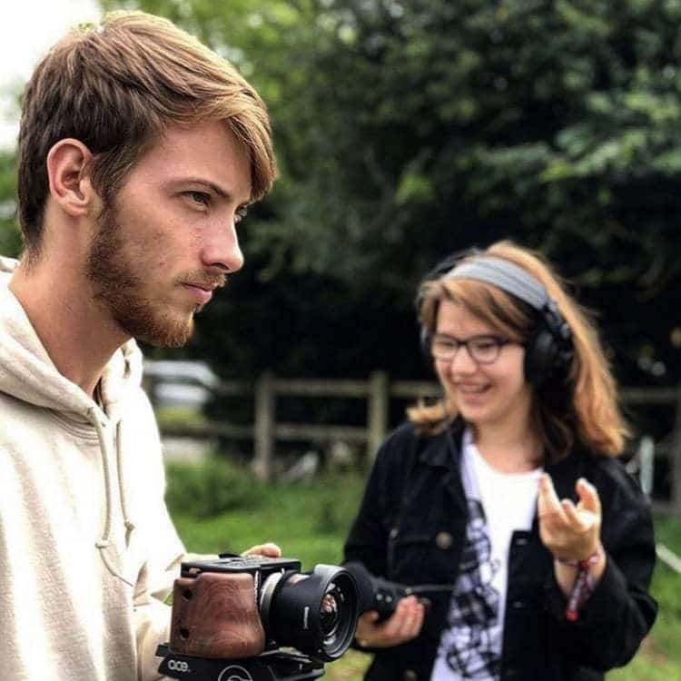 Students operate camera and video equipment. Photos by Jemma Kinzett, Daniel Charlton, Samantha Elston, Elliot Roberts.
