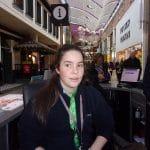 Jess Nuri at the kiosk in Touchwood