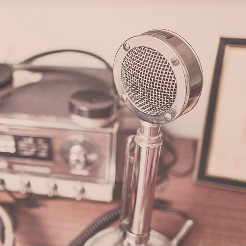 Microphone on a desk