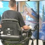 A simulator in use by a student on campus at Solihull College